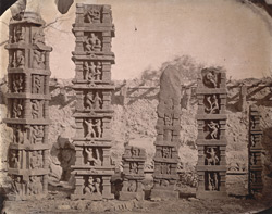 Sculptured pillars from Baijnath. 1003441
